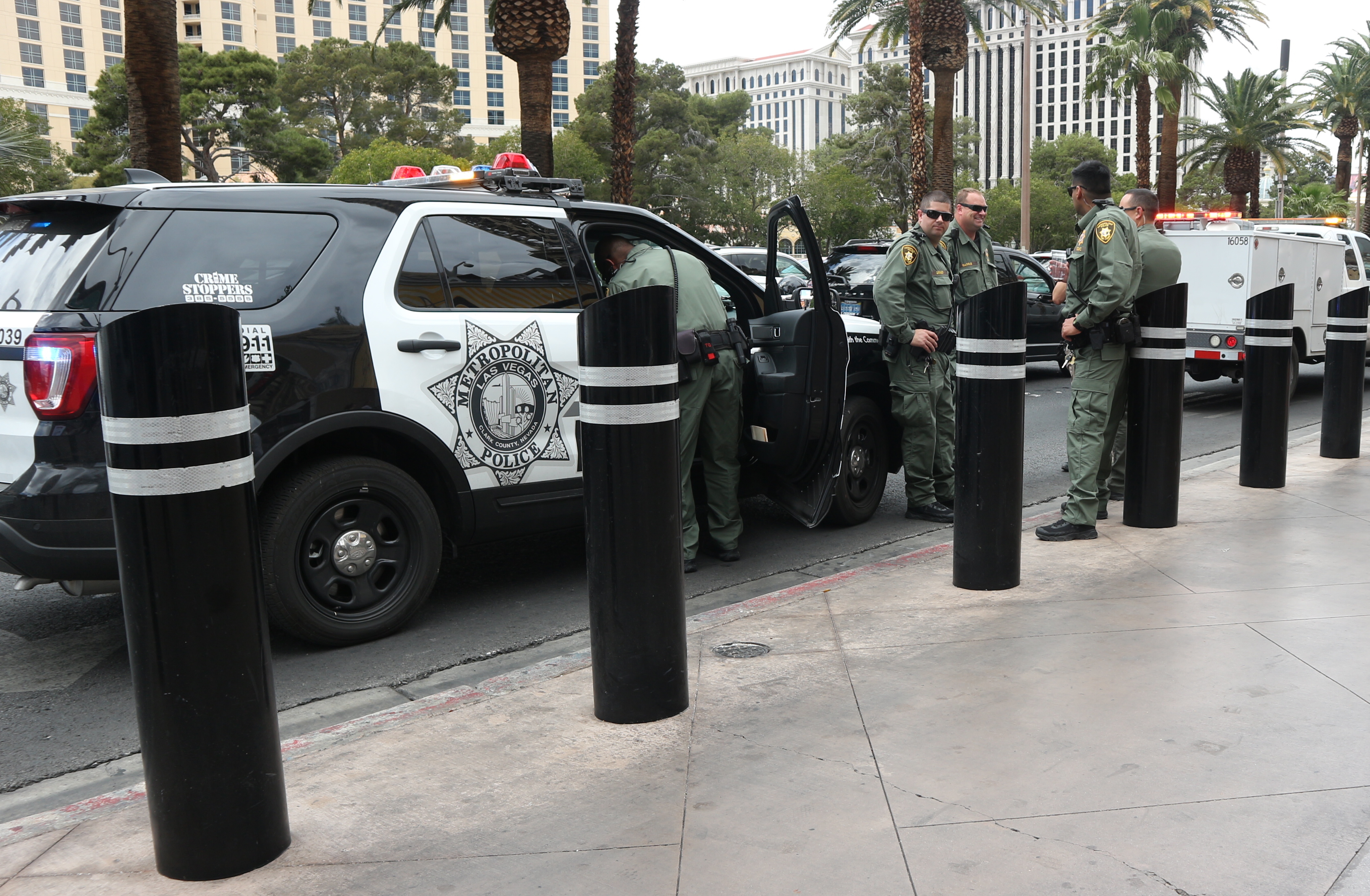 LVMPD on The Las Vegas Strip April 2019